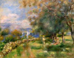 Peninsula of Saint-Jean (also known as Presqu'île de Saint-Jean) | Pierre Auguste Renoir | Oil Painting