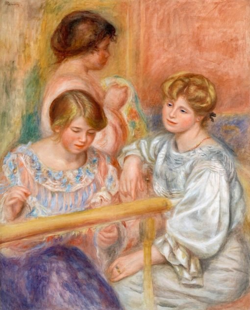 Embroiderers (also known as Les Brodeuses) | Pierre Auguste Renoir | Oil Painting