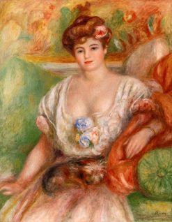 Portrait of Misia Sert (also known as Jeune femme au griffon) | Pierre Auguste Renoir | Oil Painting