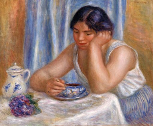 Cup of Chocolate (also known as Femme prenant du chocolat) | Pierre Auguste Renoir | Oil Painting