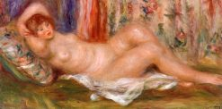 Nude Woman Reclining (also known as femme nue couchée sur le dos) | Pierre Auguste Renoir | Oil Painting