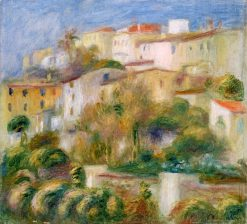 Houses on a Hill (also known as Groupe de maisons sur un coteau) | Pierre Auguste Renoir | Oil Painting