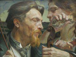 A Lark. Portrait of the Painter Antoni Zembaczy?ski | Jacek Malczewski | Oil Painting