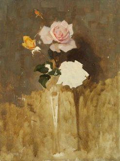 Vase of Roses | Benjamin Haughton | Oil Painting