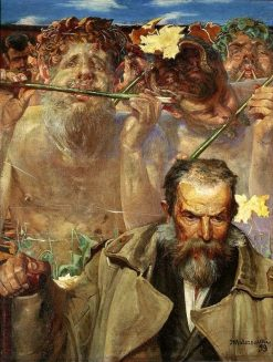 The story of a song (also known as Portrait of Adam Asnyk) | Jacek Malczewski | Oil Painting