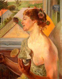 Woman with a Bowl | Jacek Malczewski | Oil Painting