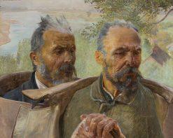 Two Old Men | Jacek Malczewski | Oil Painting