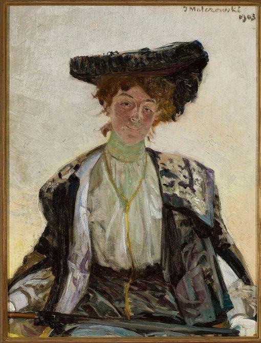 Portrait of Actress Helena Sulima | Jacek Malczewski | Oil Painting