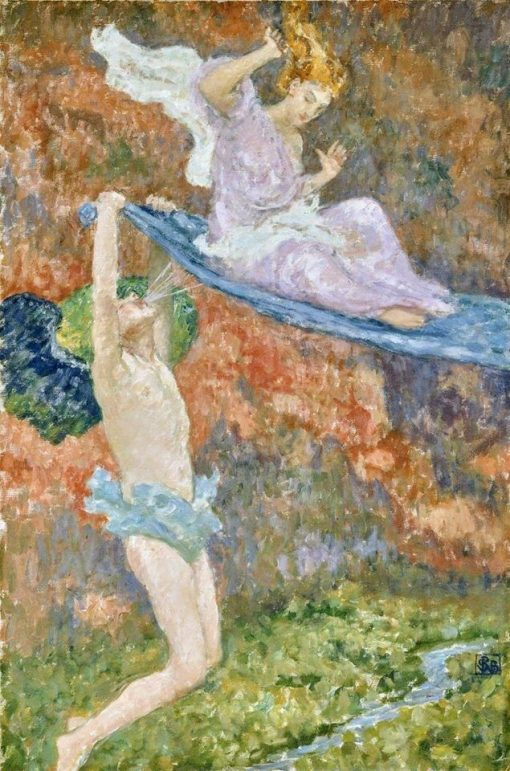 Psyche and Zephyr | Rupert Bunny | Oil Painting