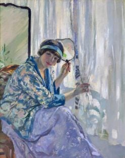 Girl at a window | Rupert Bunny | Oil Painting