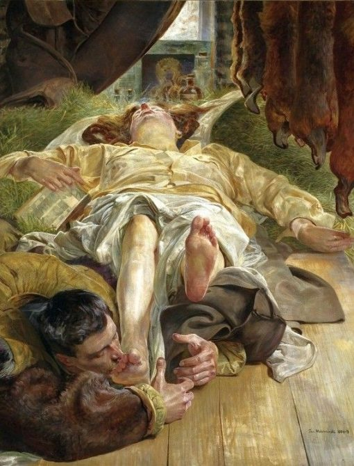 Death of Ellenai | Jacek Malczewski | Oil Painting