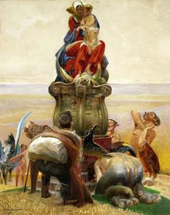 Adoration of the Madonna | Jacek Malczewski | Oil Painting