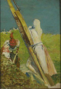 At the crane | Jacek Malczewski | Oil Painting