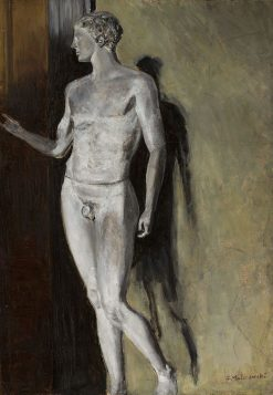 Study of classical sculpture | Jacek Malczewski | Oil Painting