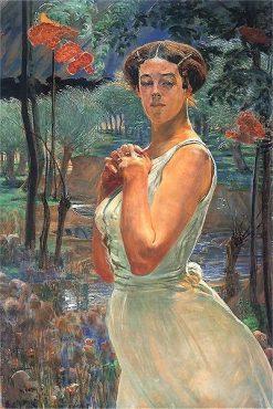 A woman in a grove | Jacek Malczewski | Oil Painting