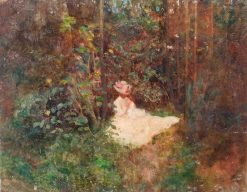 Woman in a Glade | Benjamin Haughton | Oil Painting