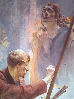 Artist and Muse | Jacek Malczewski | Oil Painting