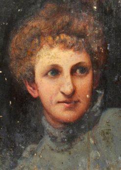 Woman's Head | Benjamin Haughton | Oil Painting