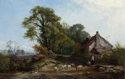 Outside the Cottage | Henry John Boddington | Oil Painting