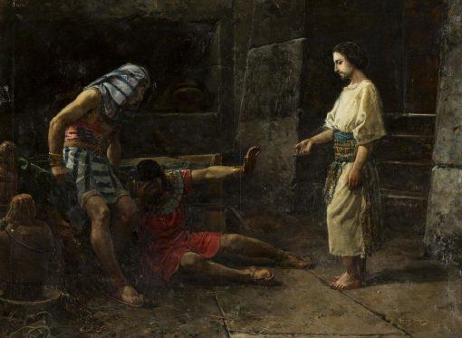The Dream of Joseph   Mariano Barbasan Lagueruela   Oil Painting