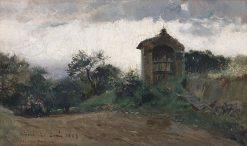 Landscape near Tivoli   Mariano Barbasan Lagueruela   Oil Painting