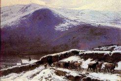 Flock in Winter   Mariano Barbasan Lagueruela   Oil Painting