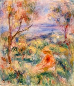 Seated Woman with Sea in the Distance (also known as Femme assise au bord de la mer) | Pierre Auguste Renoir | Oil Painting