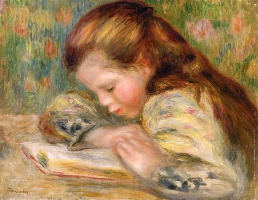 Child Reading (also known as Enfant Lisant) | Pierre Auguste Renoir | Oil Painting