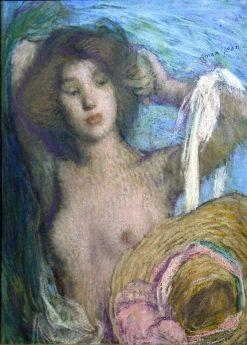 Reverie   Edmond-François Aman-Jean   Oil Painting