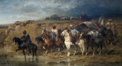Arab caravan | Adolf Christian Schreyer | Oil Painting