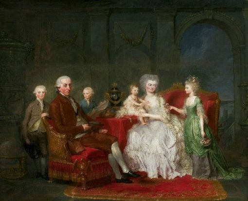 Portrait of a Princely family   Anna Dorothea Therbusch   Oil Painting