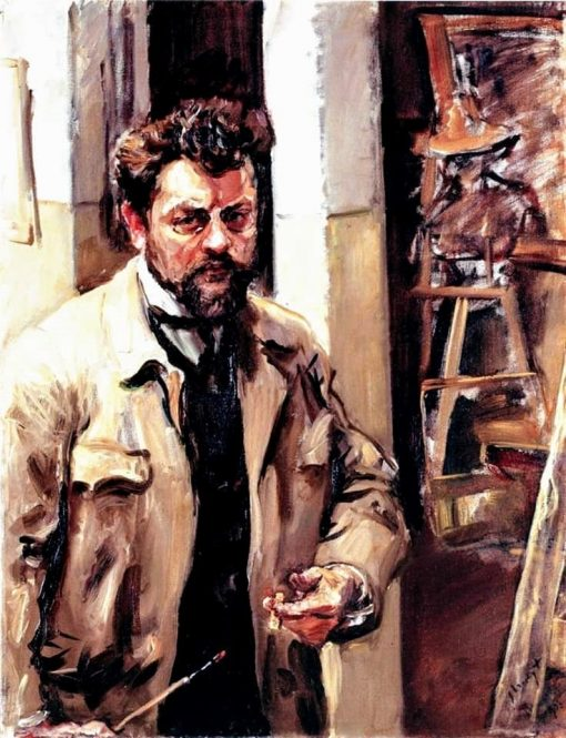 Self Portrait   Max Slevogt   Oil Painting