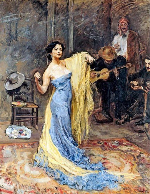 Portrait of the dancer Marietta di Rigardo | Max Slevogt | Oil Painting