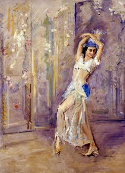 Portrait of Dancer Anna Pavlova | Max Slevogt | Oil Painting