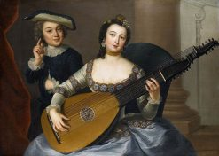 Woman Playing a Lute | Anna Dorothea Therbusch | Oil Painting