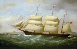 The Barque 'Joseph Cunard' | Samuel Walters | Oil Painting