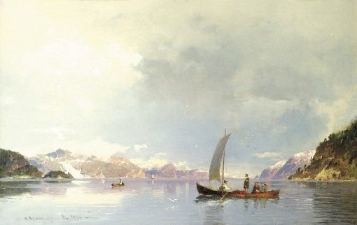 Fjord Landscape | Georg Anton Rasmussen | Oil Painting