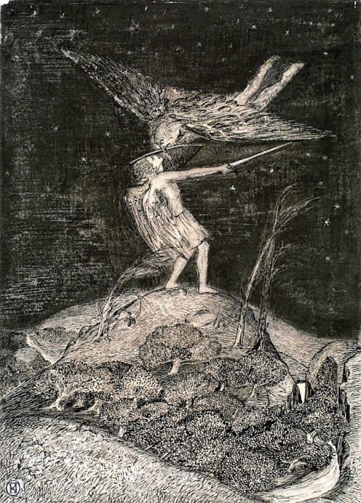 Angel and Devil (also known as The Combat) | Paul Nash | Oil Painting