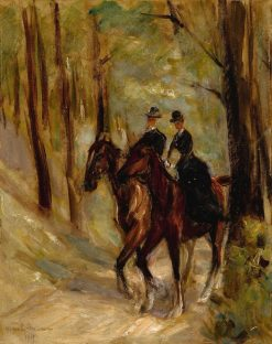 Two Riders in an Alley | Max Liebermann | Oil Painting
