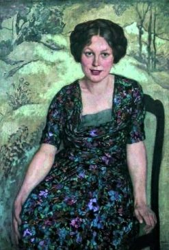 A Young Lady Seated | Emil Orlik | Oil Painting