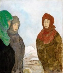 Japanese Women in Winter Clothes | Emil Orlik | Oil Painting