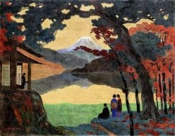 Landscape with Fuji | Emil Orlik | Oil Painting
