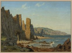 Beach formation on Bornholm. Scene from Rø | Vilhelm Kyhn | Oil Painting