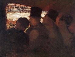 Spectators (also known as At the Theater - Audience) | Honoré Daumier | Oil Painting