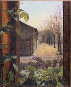 Corner of Gammel Kongevej and Vester Farimagsvej | Vilhelm Kyhn | Oil Painting