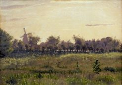 The Meadow near the Artist's House at Farimagsvej outside Copenhagen | Vilhelm Kyhn | Oil Painting