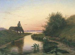 Evening Atmosphere | Vilhelm Kyhn | Oil Painting