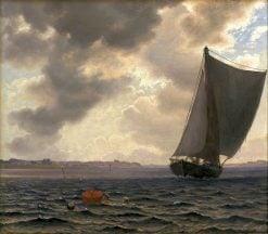 Sailing Boats in Guldborsund | Vilhelm Kyhn | Oil Painting