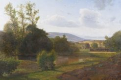 View of Himmelbjerget from Ry station | Vilhelm Kyhn | Oil Painting