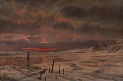 A Winter's Evening by a Danish Fjord | Vilhelm Kyhn | Oil Painting